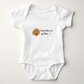 golden retriever baby bodysuit