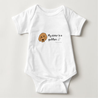 golden retriever baby bodysuit