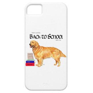 Golden Retriever Back to School iPhone 5 Case