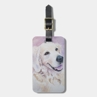Golden retriever bag tag