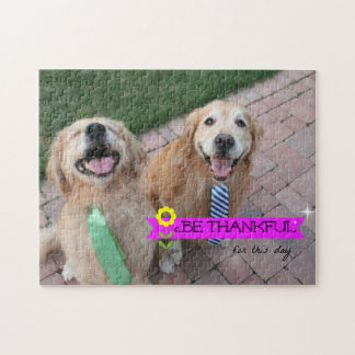 Golden Retriever Be Thankful For This Day Jigsaw Puzzle