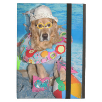 Golden Retriever Beach Bather iPad Air Cover