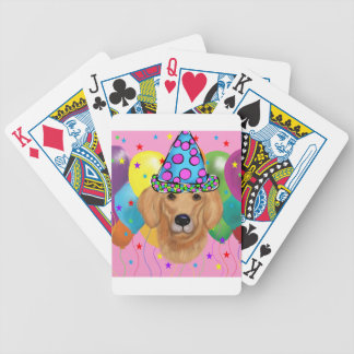 Golden Retriever Bicycle Playing Cards