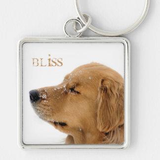 Golden Retriever Bliss Dog Keychain