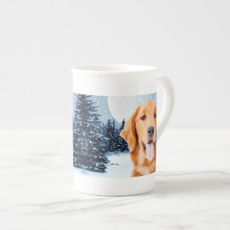 Golden Retriever Bone China Mug