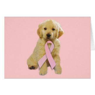 Golden Retriever Breast Cancer Greeting Card