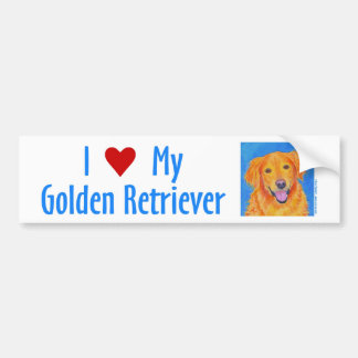 "Golden Retriever Bumper Sticker - ""Sydney"""