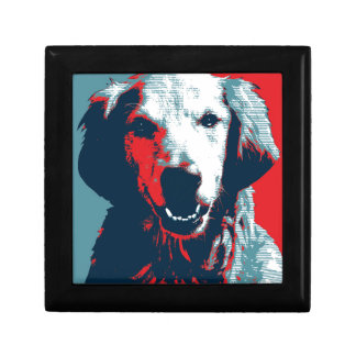 Golden Retriever by Hope Dogs Small Square Gift Box