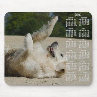 Golden Retriever Calendar 2016 Mouse Pads Custom
