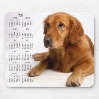 Golden Retriever Calendar 2017 Custom Mouse Pads