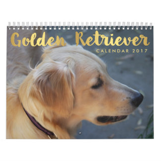 Golden Retriever Calendar 2017 Personalized Photos