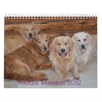 Golden Retriever Calendar w English & Am. Puppies