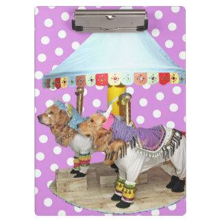 Golden Retriever Carousel Clipboard