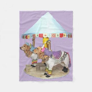Golden Retriever Carousel Fleece Blanket