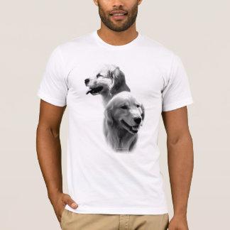 Golden Retriever Charcoal 2 T-Shirt