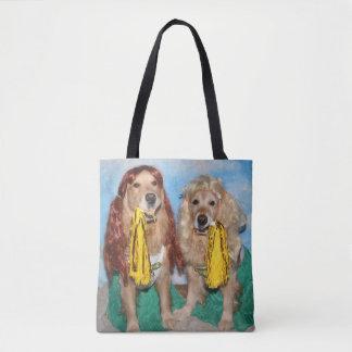 Golden Retriever Cheerleaders Tote Bag