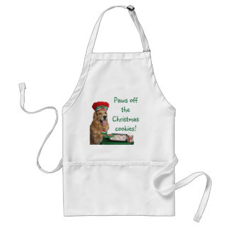 Golden Retriever Christmas Baker Standard Apron