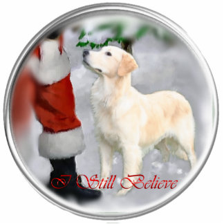 Golden Retriever Christmas Gifts Photo Sculpture Decoration