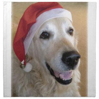 Golden retriever Christmas - Happy Christmas Dog Napkin