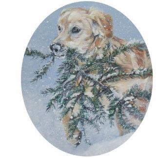 golden retriever Christmas Ornament Photo Sculpture Decoration
