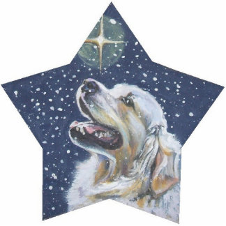 golden Retriever Christmas pin Photo Sculpture Badge
