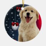 Golden Retriever Christmas Tree Ornaments