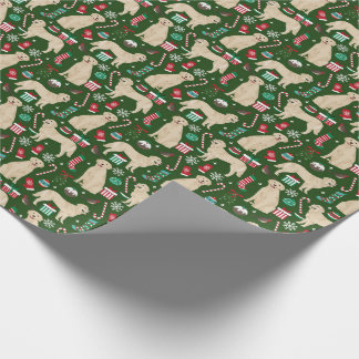 Golden Retriever Christmas wrapping paper