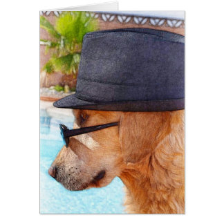 Golden Retriever - Cool Dude Card