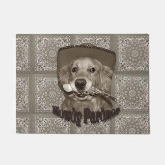 Golden Retriever Cowboy Doormat