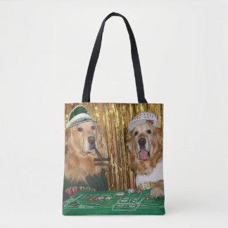 Golden Retriever Craps Game Tote Bag
