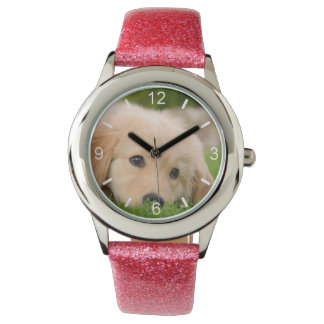 Golden Retriever Cute Puppy Dream  girl dial-plate Watch
