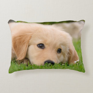 Golden Retriever Cute Puppy Dreaming, Throw Decorative Cushion