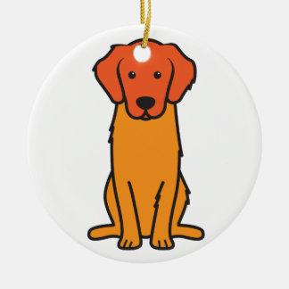 Golden Retriever Dog Cartoon Ceramic Ornament