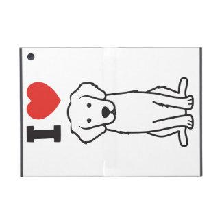 Golden Retriever Dog Cartoon Covers For iPad Mini