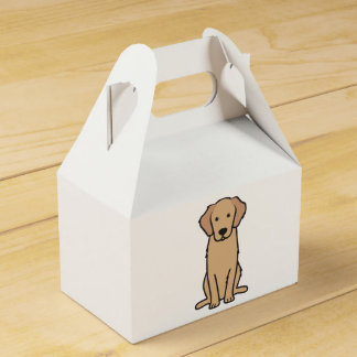 Golden Retriever Dog Cartoon Favour Box