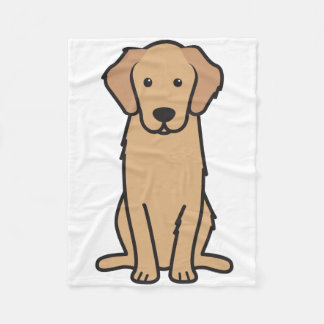 Golden Retriever Dog Cartoon Fleece Blanket