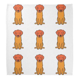 Golden Retriever Dog Cartoon Head Kerchiefs