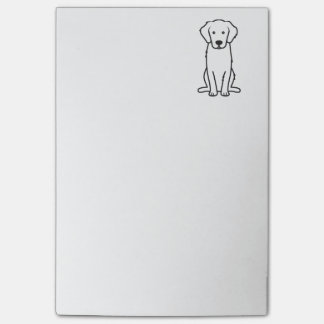 Golden Retriever Dog Cartoon Post-it Notes