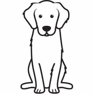 Golden Retriever Dog Cartoon Standing Photo Sculpture