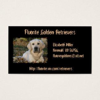 Golden Retriever Dog Custom Business Card