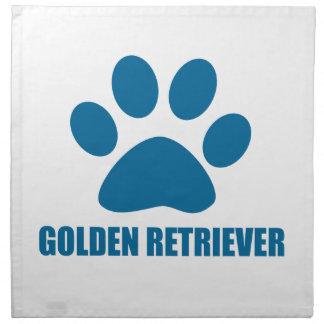 GOLDEN RETRIEVER DOG DESIGNS NAPKIN
