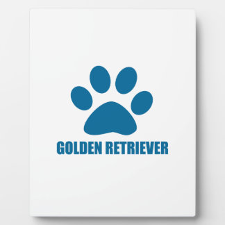 GOLDEN RETRIEVER DOG DESIGNS PLAQUE