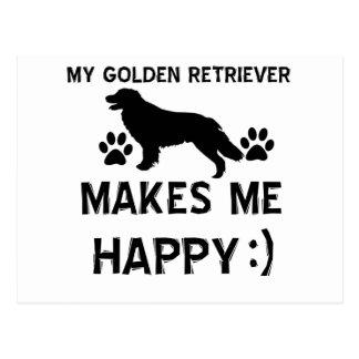 Golden Retriever dog designs Postcard