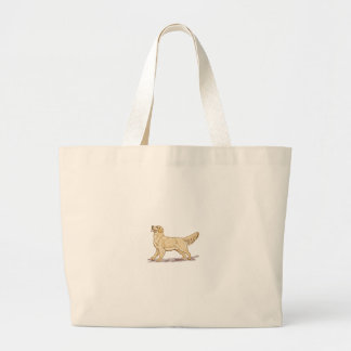 Golden Retriever Dog Large Tote Bag