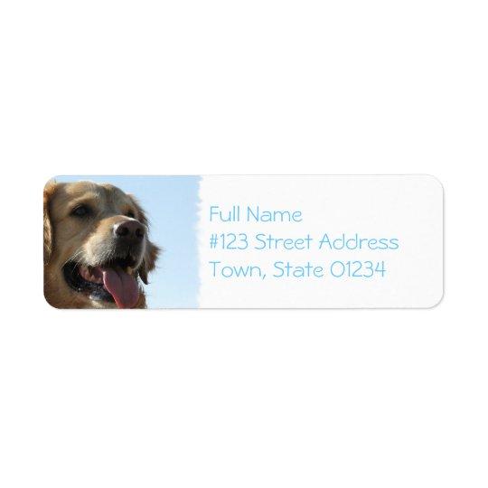Golden Retriever Dog Mailing Label