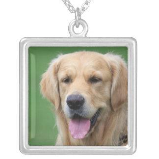 Golden Retriever dog necklace, gift idea Square Pendant Necklace