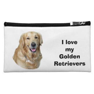 Golden Retriever dog photo Cosmetic Bag