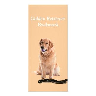 Golden Retriever dog photo custom name bookmark Rack Card