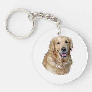 Golden Retriever dog photo Keychain