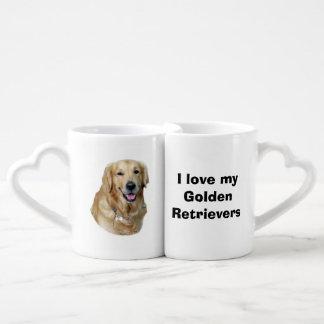 Golden Retriever dog photo portrait Couple Mugs